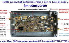 70MHz band transverter with 70cm IF