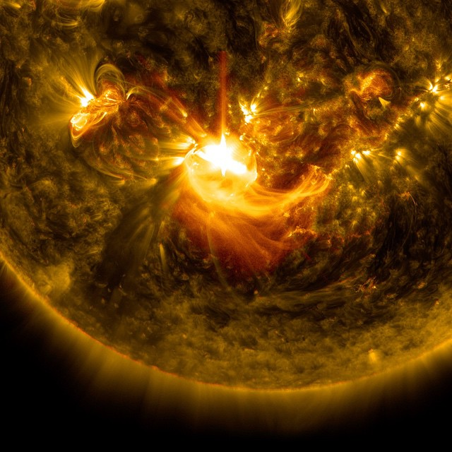 See a stunning solar flare captured by NASA