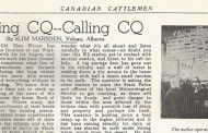 The early days of amateur radio on the farm