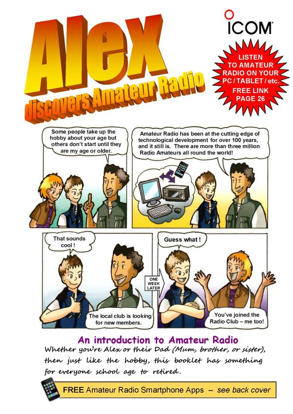'Alex Discovers Amateur Radio ' Booklet to Promote Radio Hobby to Young & Old!