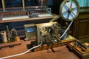 Morse Demonstrates Telegraph Machine