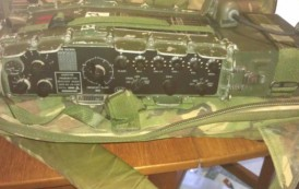 Camouflage army radio used in Falklands and Gulf wars stolen from the back of a car parked in Northampton