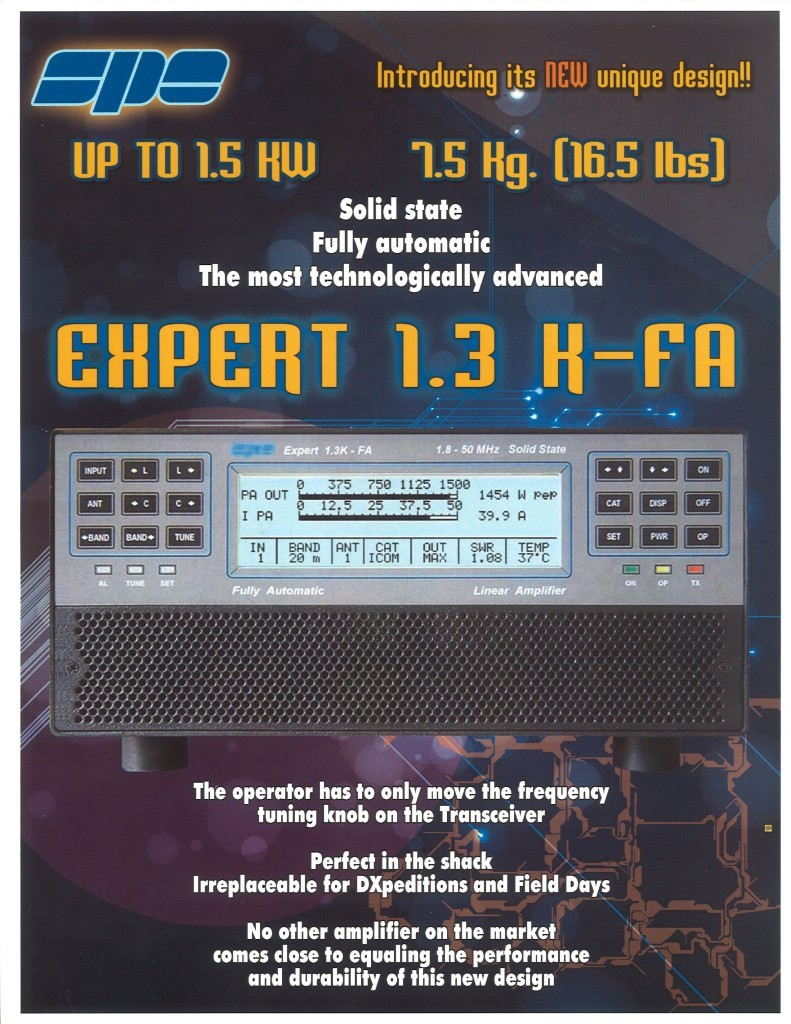 Expert Amps 1 3K-FA - 1 3 KW Solid State Fully Automatic