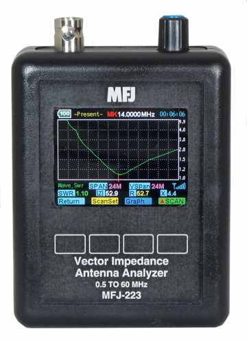 ANTENNA ANALYZER , 1-60MHZ – MFJ 223