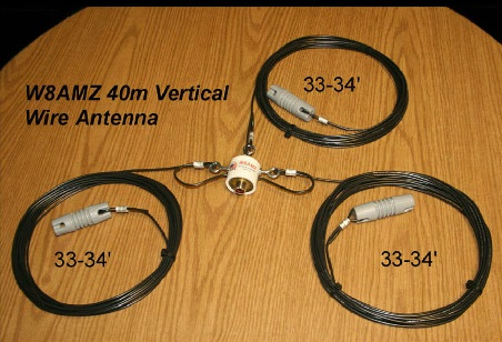 40 Meter 1 4 Wave Vertical Wire Monopole By W8amz