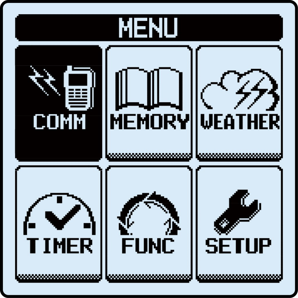 FTA-550 Menu Display