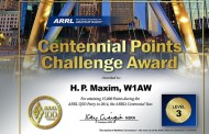 ARRL Centennial Points Challenge, W1AW WAS Awards Application Window Open