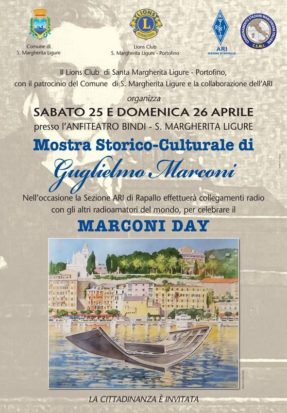 INTERNATIONAL MARCONI DAY – 141st anniversary of the birth of Guglielmo Marconi
