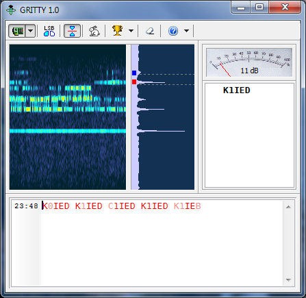 GRITTY 1.2 – RTTY decoder for Windows XP/7/8, 32/64-bit