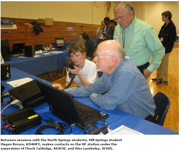 "Amateur Radio ""EduTeam"" Wows the Crowds at Georgia Super STEM Event"