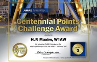 Participants May Apply Anytime for Centennial Points Challenge, W1AW WAS Awards