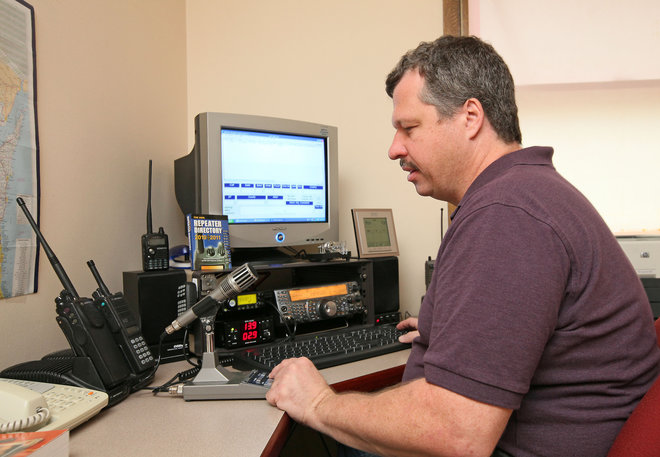 When weather is threatening, radio operators are talking