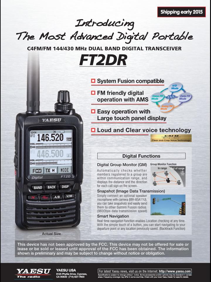 The first video from Yaesu FT-2D