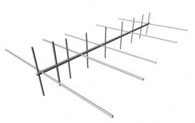 Cross-Band Yagi 144/430 MHz 5+9 el. 150cm