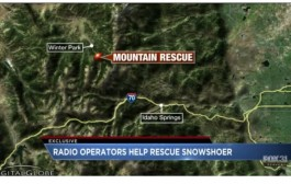 SnowShoer rescue thanks to distress signal sent via Radio