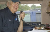 Radio operators help at Two Rivers Bike Ride event