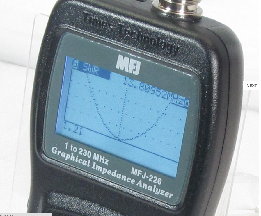 New Videos ! MFJ-226 – 1-230 MHZ ANTENNA EXPECT TIMES GRAPHIC ANALYZER