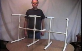2 Meter Quad PVC Pipe Antenna by KG0ZZ