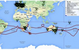 Party Balloon Carrying Ham Radio Payload Circles Southern Hemisphere a Second Time