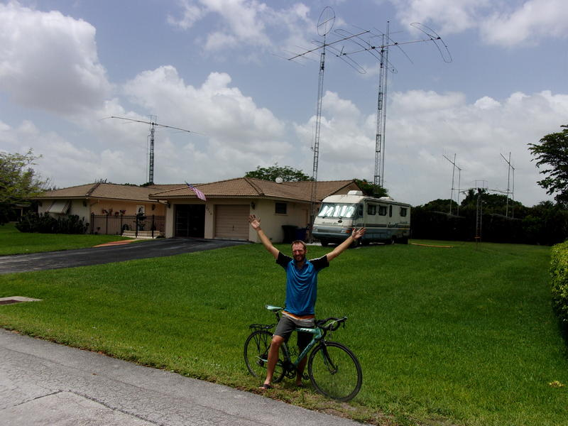 Ham-Cyclist Completes US Leg of His Trip Around the Globe