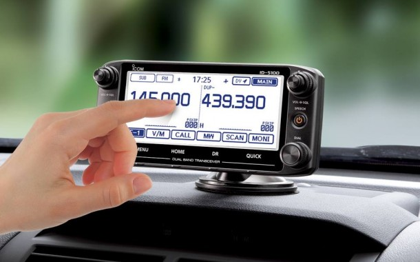 Introduction to Icom's Touch screen ID-5100 Dual Band D-STAR Mobile Radio