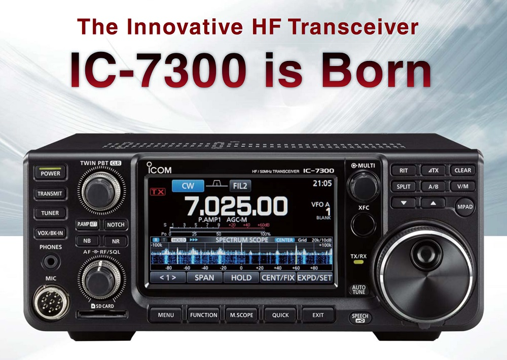 ICOM IC 7300 Transceiver – A First Look recorded at Icom UK