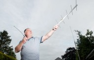 Amateur radio enthusiast dials in to the International Space Station from his SHED