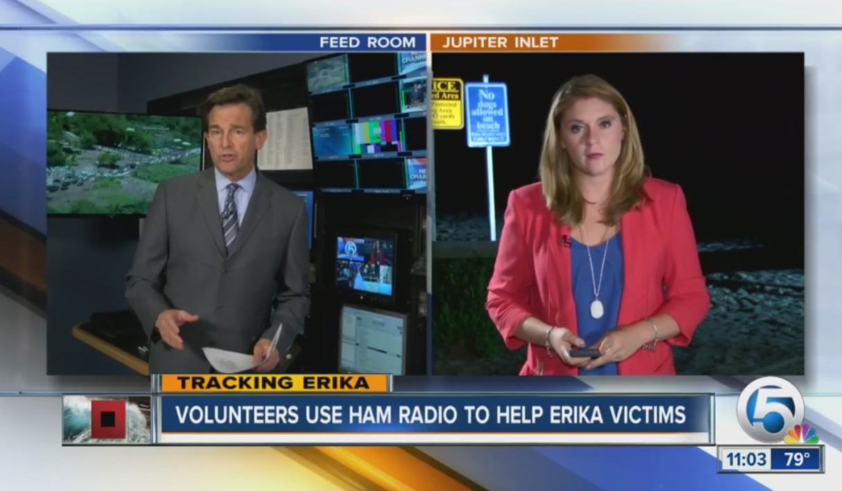 Local ham radio operators try to contact those impacted by TS Erika Storm