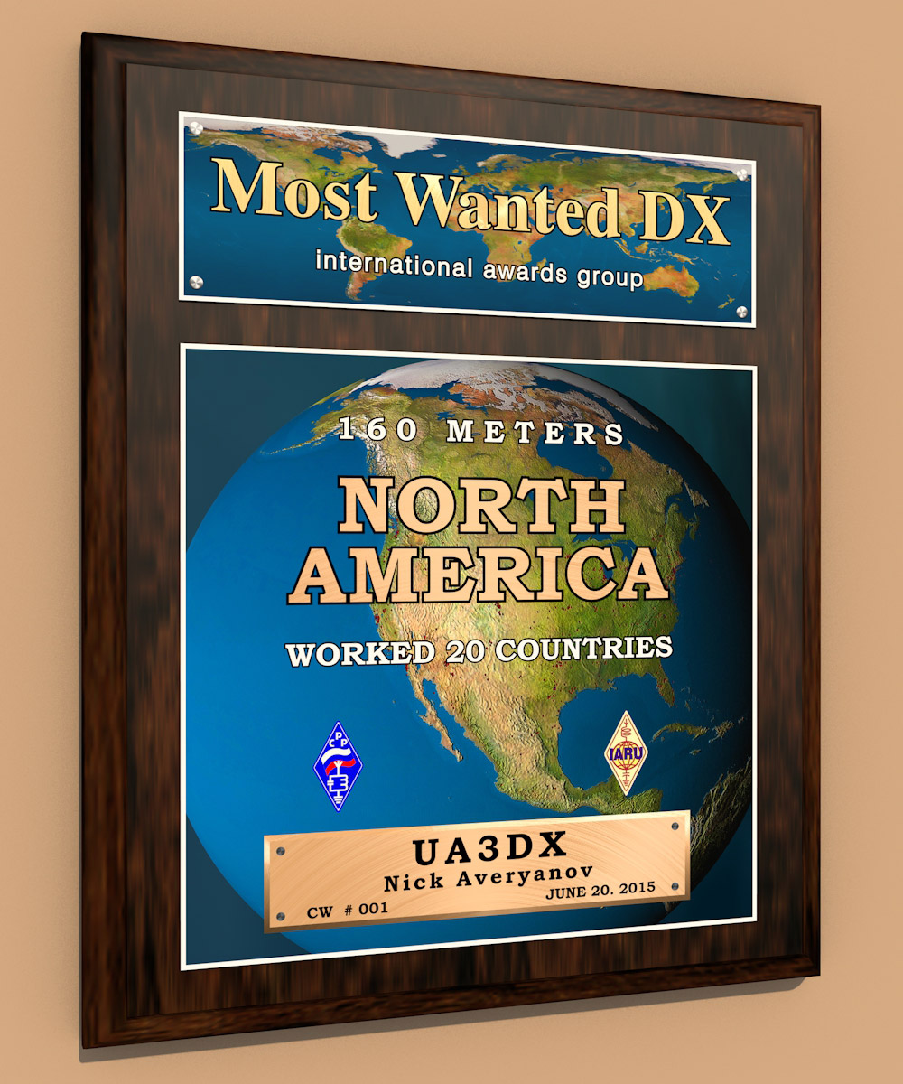 Most Wanted DX plaques