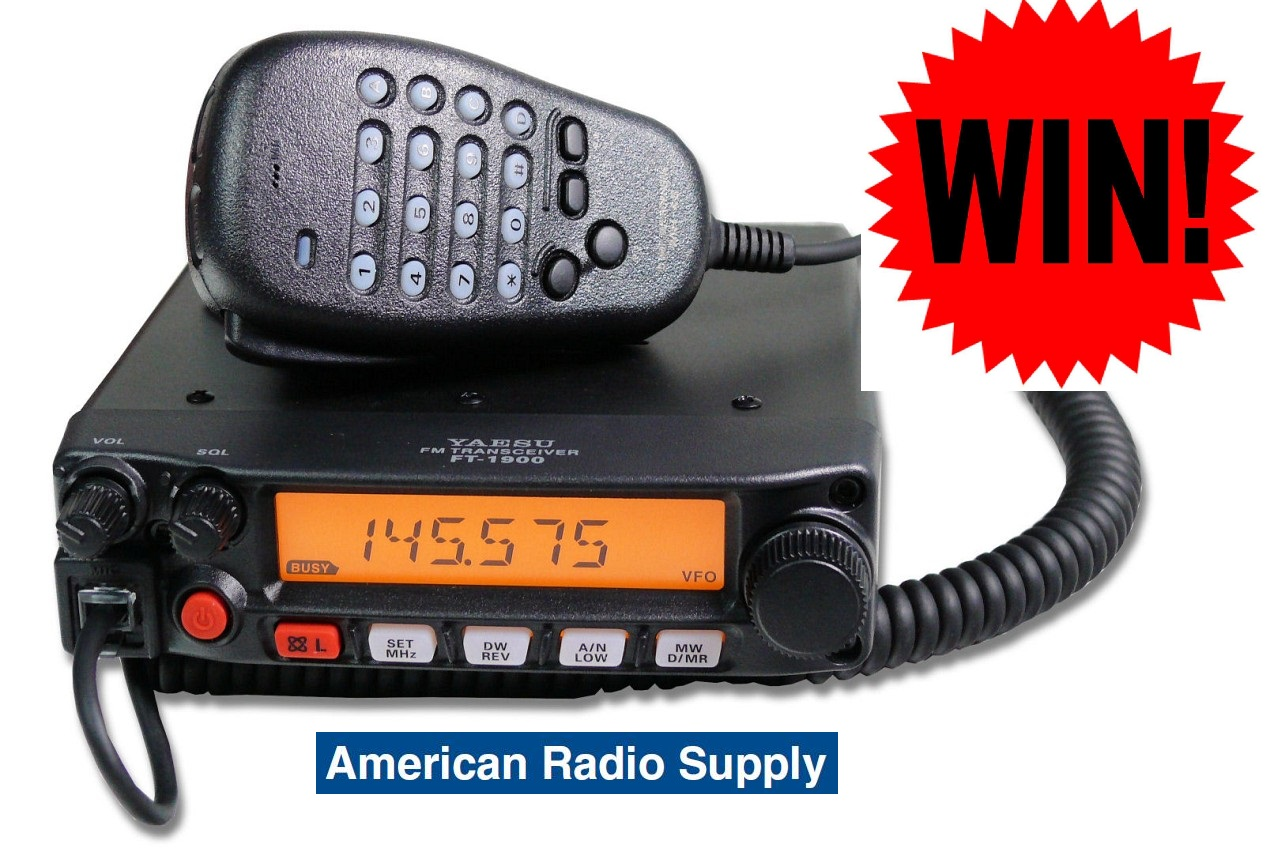 Yaesu FT-1900R Giveaway from AmericanRadioSupply.com