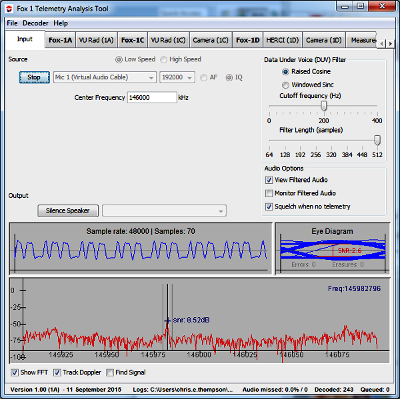 Fox Telemetry Decoder Software Now Available