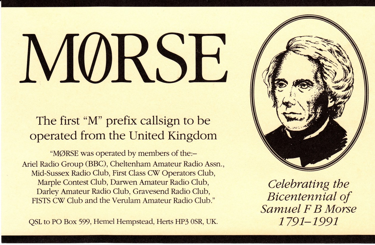 M0RSE – A SPECIAL CALLSIGN TO CELEBRATE MORSE CODE