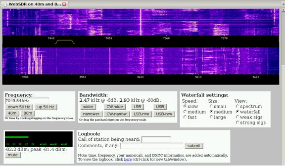 Decoding Ham Datamodes From WebSDR