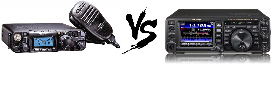 Yaesu FT-991 compared with the FT-817ND – HF SSB and CW
