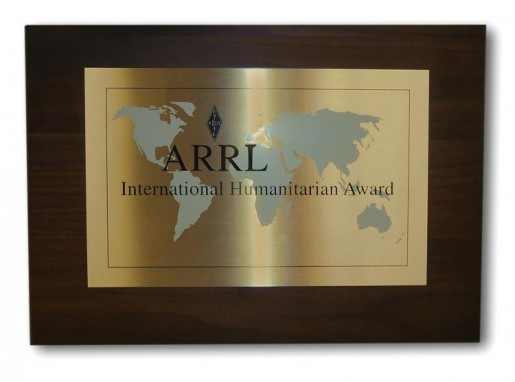 ARRL Invites Nominations For 2015 International Humanitarian Award
