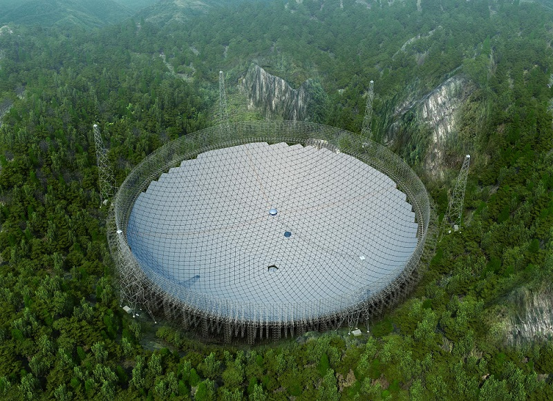 "500 meters the world's biggest ""eye in the sky"" diameter completion"