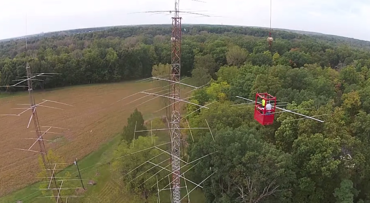 How to install a Horizontal Waller Flag antenna at 150 foot
