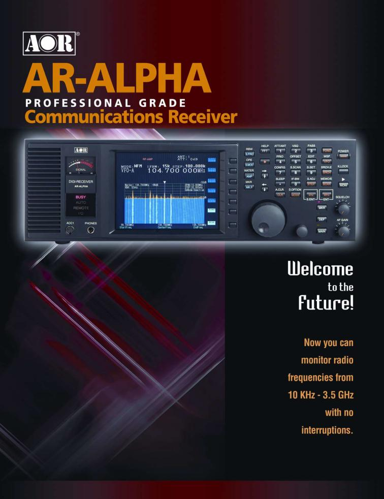 AR-ALPHA 10kHz-3500MHz,  Digitally processed Professional Grade, Base Type