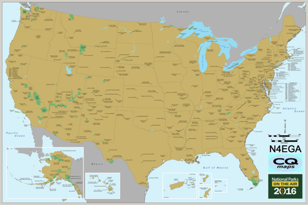 National Parks on the Air (NPOTA) Map Now Available