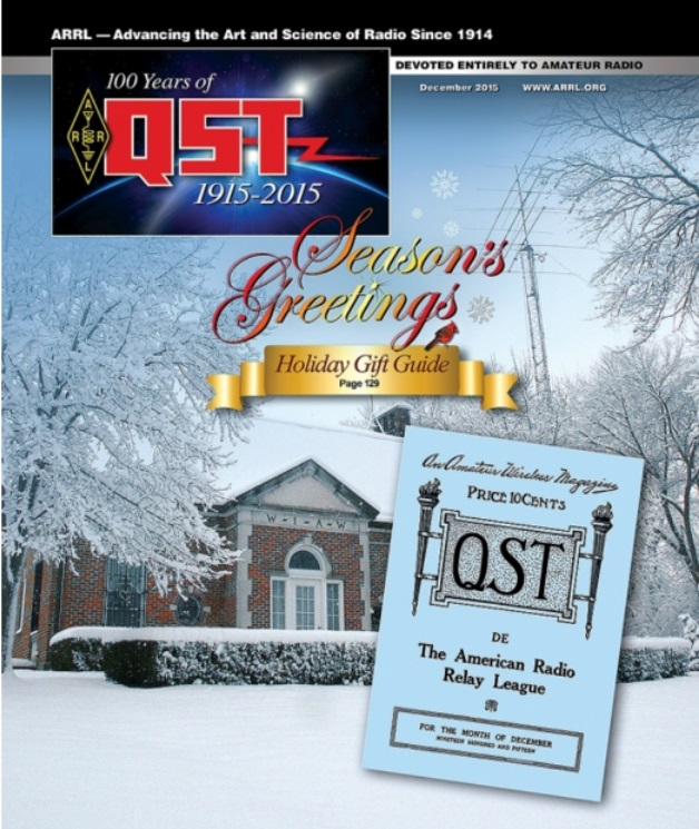 Digital Editions of December 2015 and December 1915 QST Now Available!