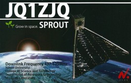 Successful SSTV and Digitalker transmissions from SPROUT