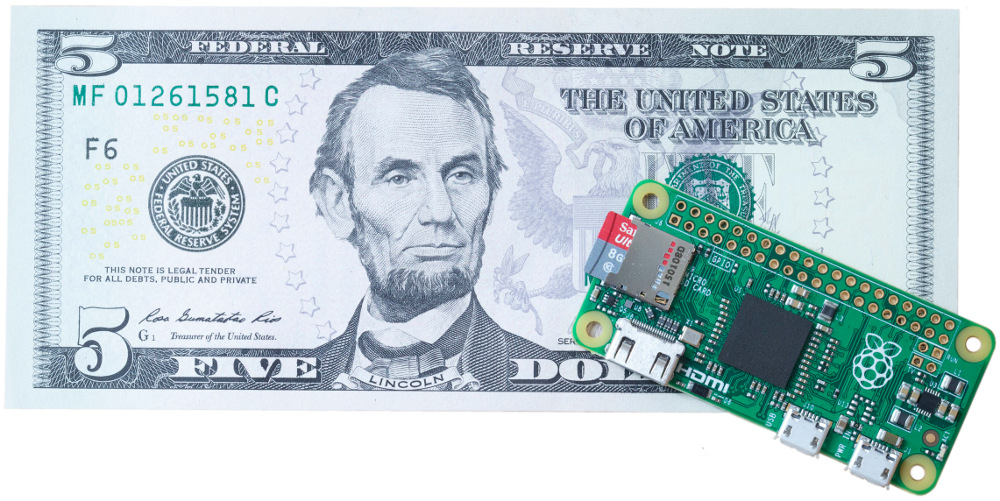 Announcing the $5 Raspberry Pi Zero