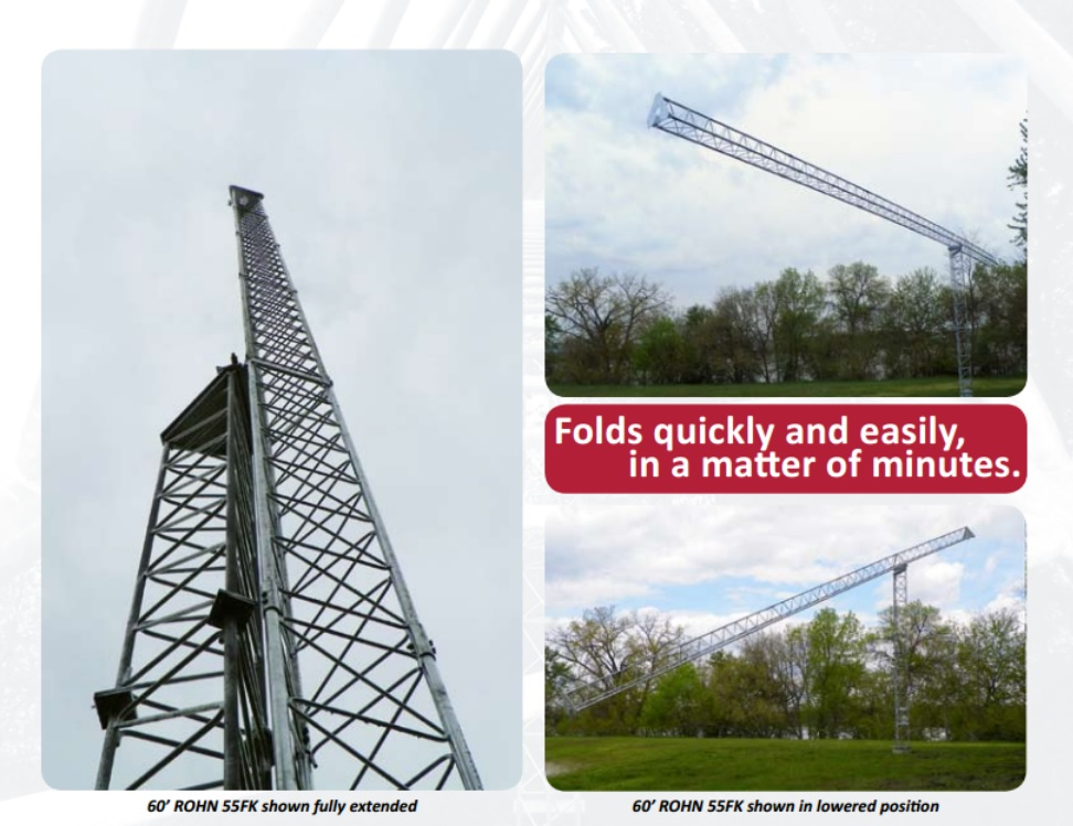 Fold-Over Towers - ROHN 55G