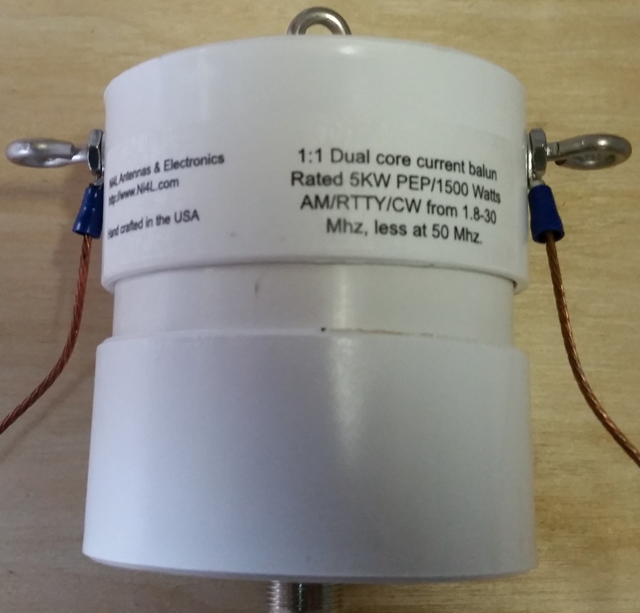 1:1 Current balun Dual core 1500 watts RTTY, 5KW ICAS
