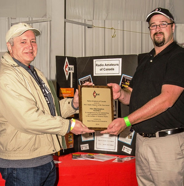 CW Skimmer Developer Alex Shovkoplyas, VE3NEA, Receives RAC Radio Amateur of the Year Plaque