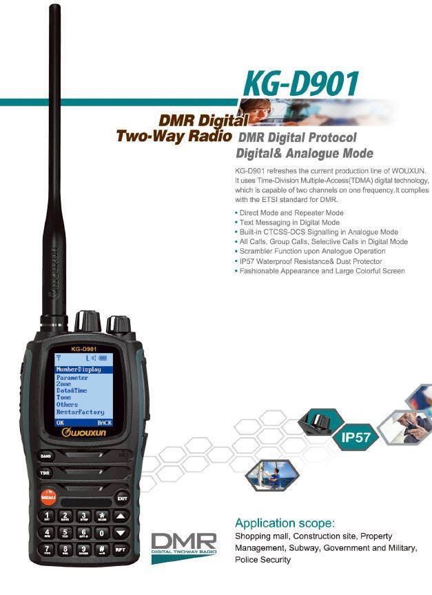 Wouxun KG-D901 DMR realese 2016
