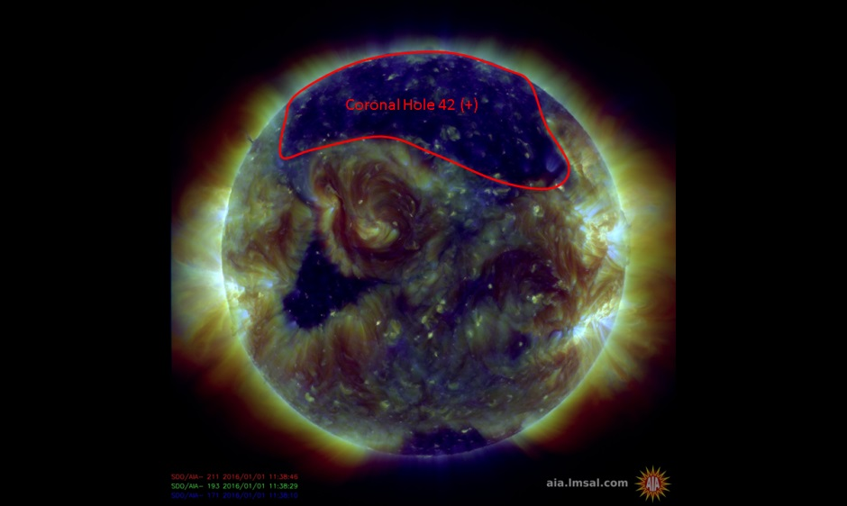 GEOMAGNETIC STORMS SUBSIDE – 01 JANUARY 2016