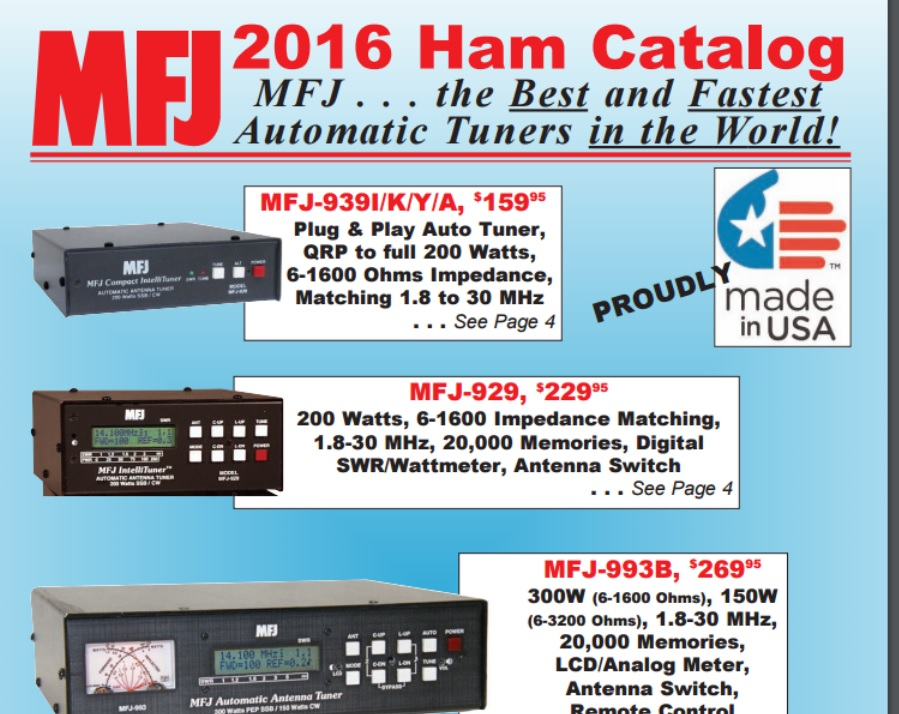NEW MFJ 2016 Spring Catalog!  140 Pages
