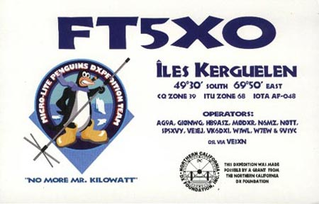FT5XO Kerguelen DXpedition
