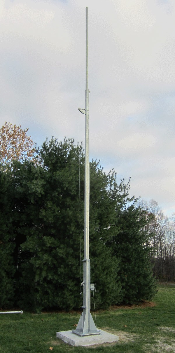 Build A 25 50 Free Standing Tilt Then Crank Up Tower Antenna